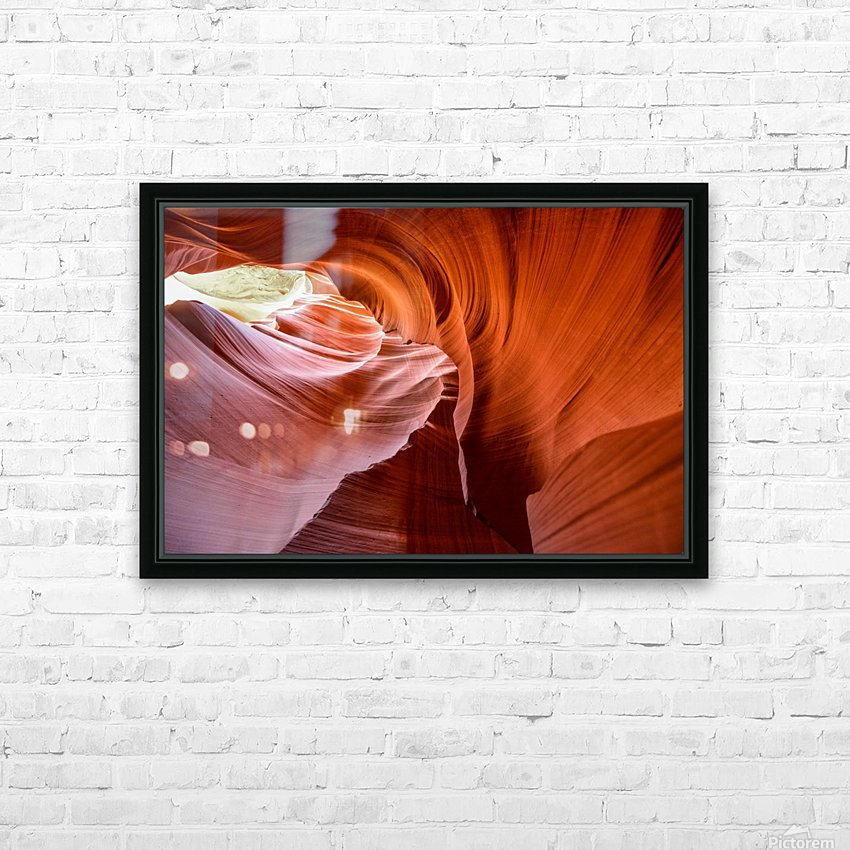 Interior of Antiloppe canyon page Arizona USA HD Sublimation Metal print with Decorating Float Frame (BOX)