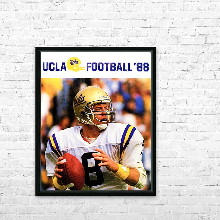 retro college sports posters ucla bruins football HD Sublimation Metal print with Decorating Float Frame (BOX)