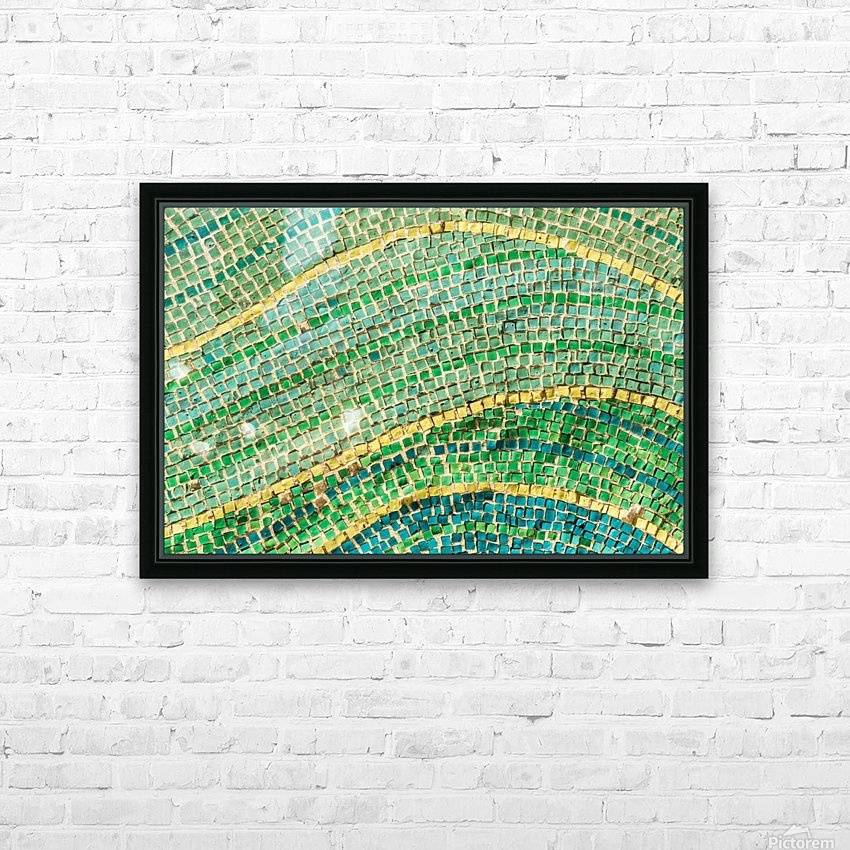 Tessellated Abstracts and Impressions - Free Form Fields and Hills in Chartreuse Mint Green and Citron Yellow HD Sublimation Metal print with Decorating Float Frame (BOX)