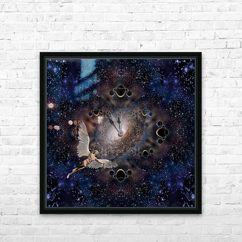 Angel in Space HD Sublimation Metal print with Decorating Float Frame (BOX)