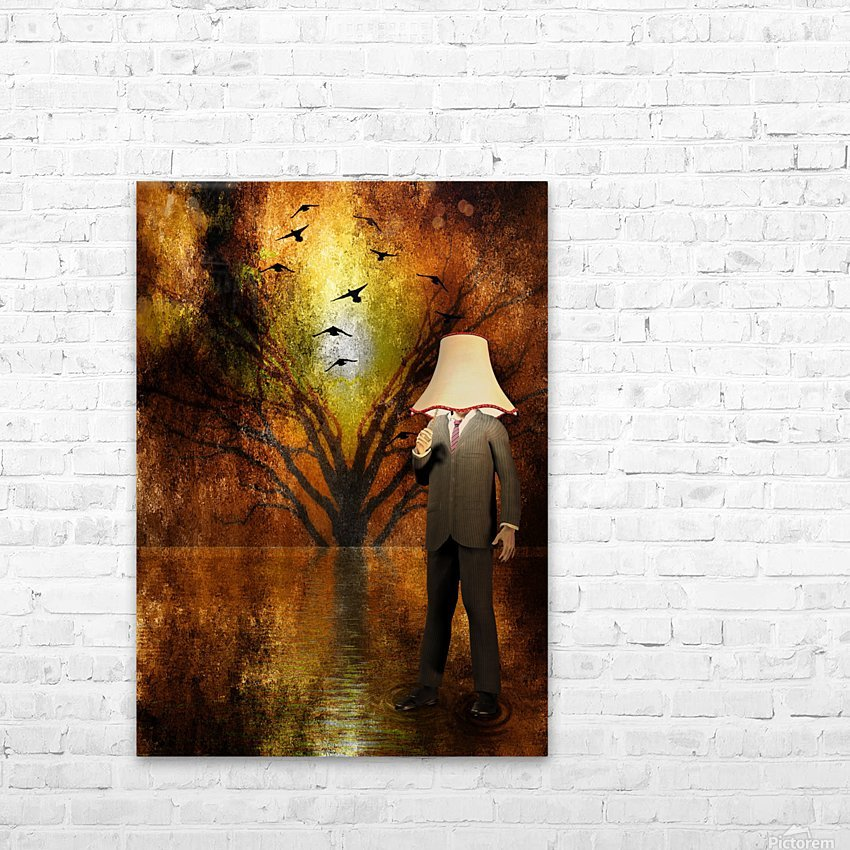 Lamp Man HD Sublimation Metal print with Decorating Float Frame (BOX)