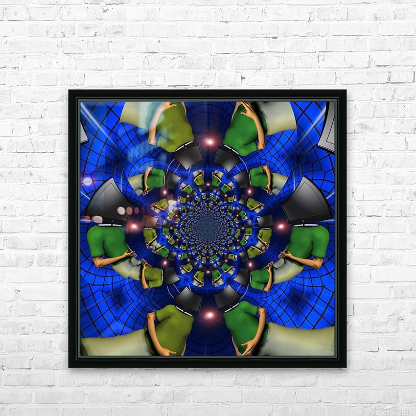 TV Head HD Sublimation Metal print with Decorating Float Frame (BOX)