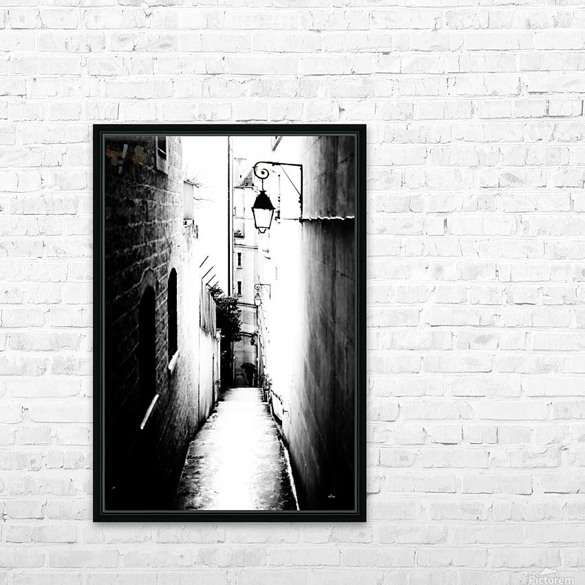 a very narrow street in Paris HD Sublimation Metal print with Decorating Float Frame (BOX)