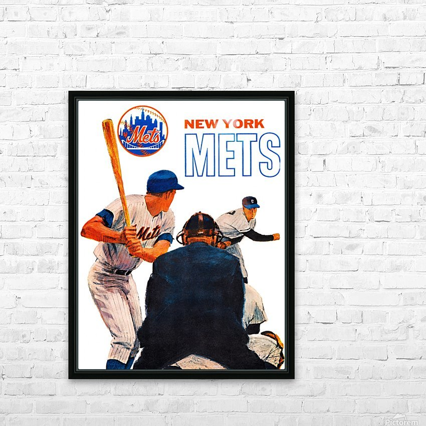 Vintage New York Mets Art HD Sublimation Metal print with Decorating Float Frame (BOX)