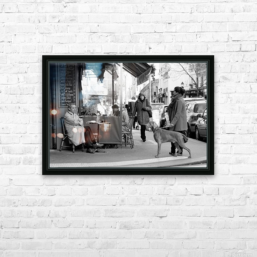 Street Life in Le Marais HD Sublimation Metal print with Decorating Float Frame (BOX)