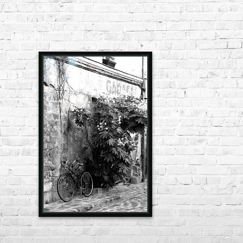 Bike in Passage HD Sublimation Metal print with Decorating Float Frame (BOX)