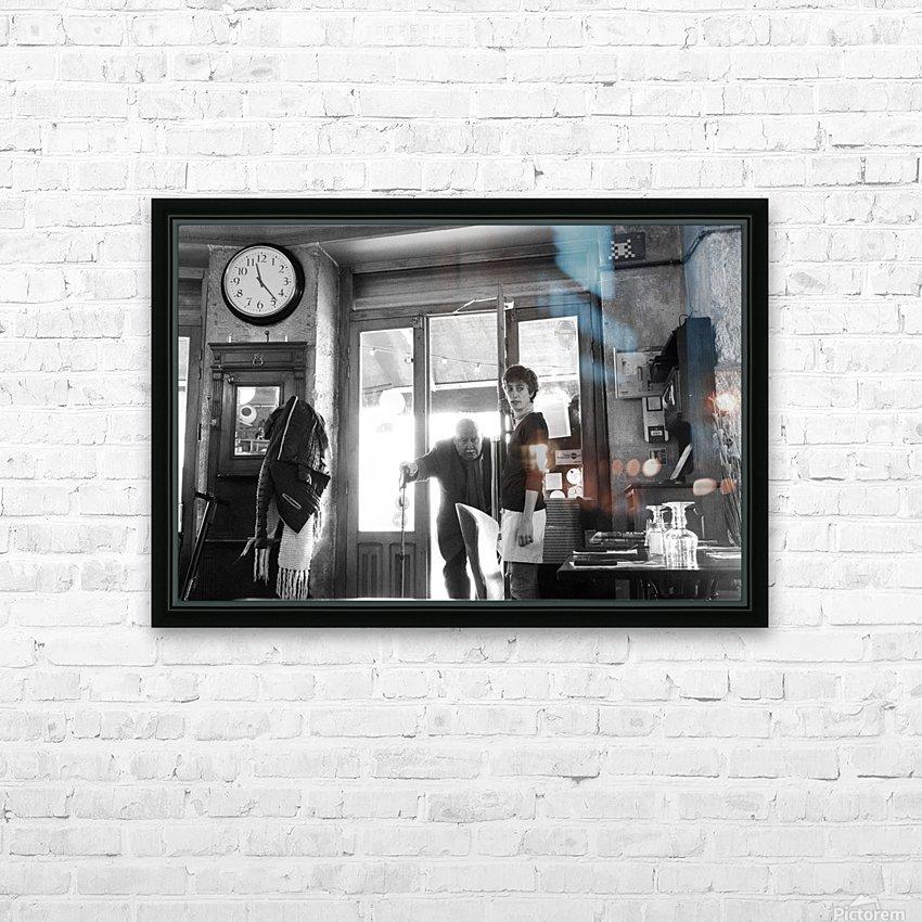 Bienvenue dans le Brasserie HD Sublimation Metal print with Decorating Float Frame (BOX)