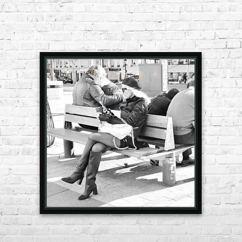 Dimanche Le Long de Champs Elysees HD Sublimation Metal print with Decorating Float Frame (BOX)