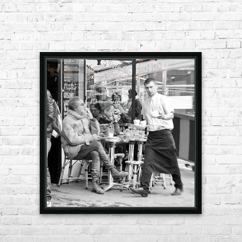 Cafe en face de Drouot HD Sublimation Metal print with Decorating Float Frame (BOX)