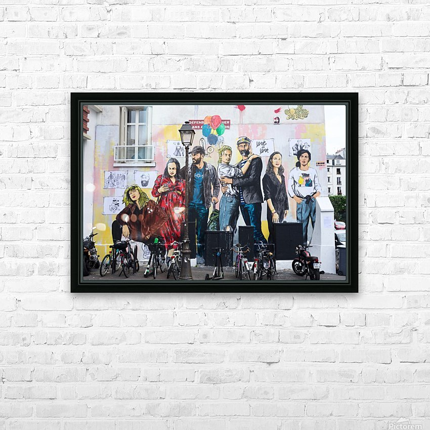 Dans Le Marais HD Sublimation Metal print with Decorating Float Frame (BOX)