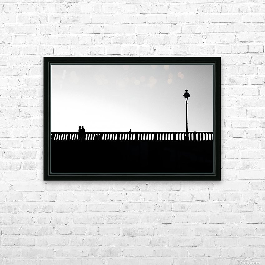 Together in Paris HD Sublimation Metal print with Decorating Float Frame (BOX)