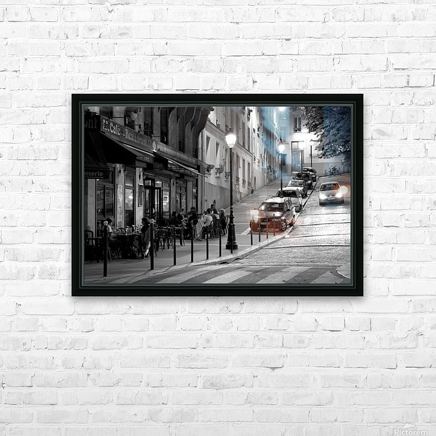Brasserie les Buttes Chaumont HD Sublimation Metal print with Decorating Float Frame (BOX)