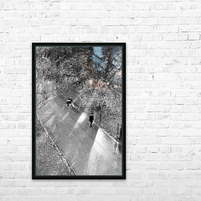 Winter Shadows Buttes Chaumont HD Sublimation Metal print with Decorating Float Frame (BOX)