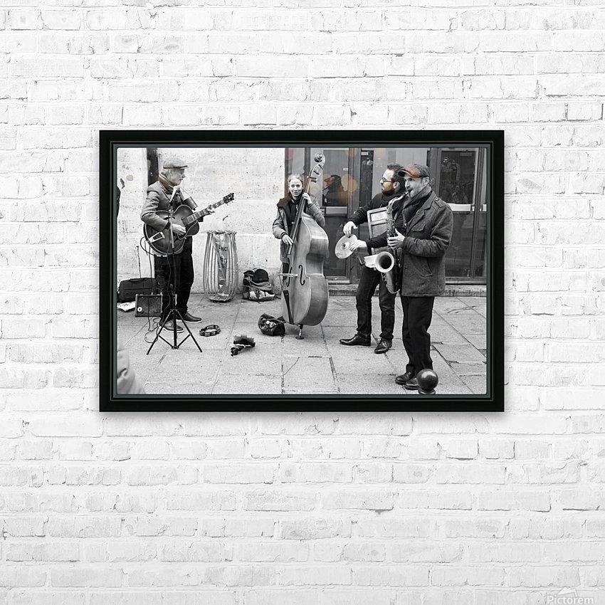 Musique le Dimanche HD Sublimation Metal print with Decorating Float Frame (BOX)