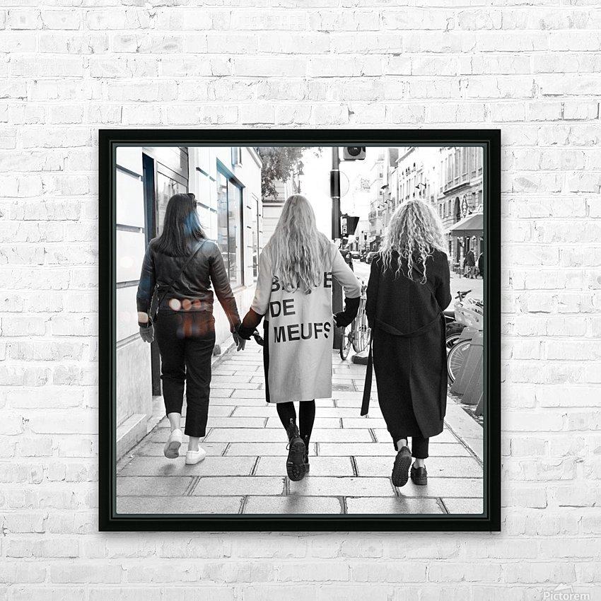 Bande de Meufs HD Sublimation Metal print with Decorating Float Frame (BOX)