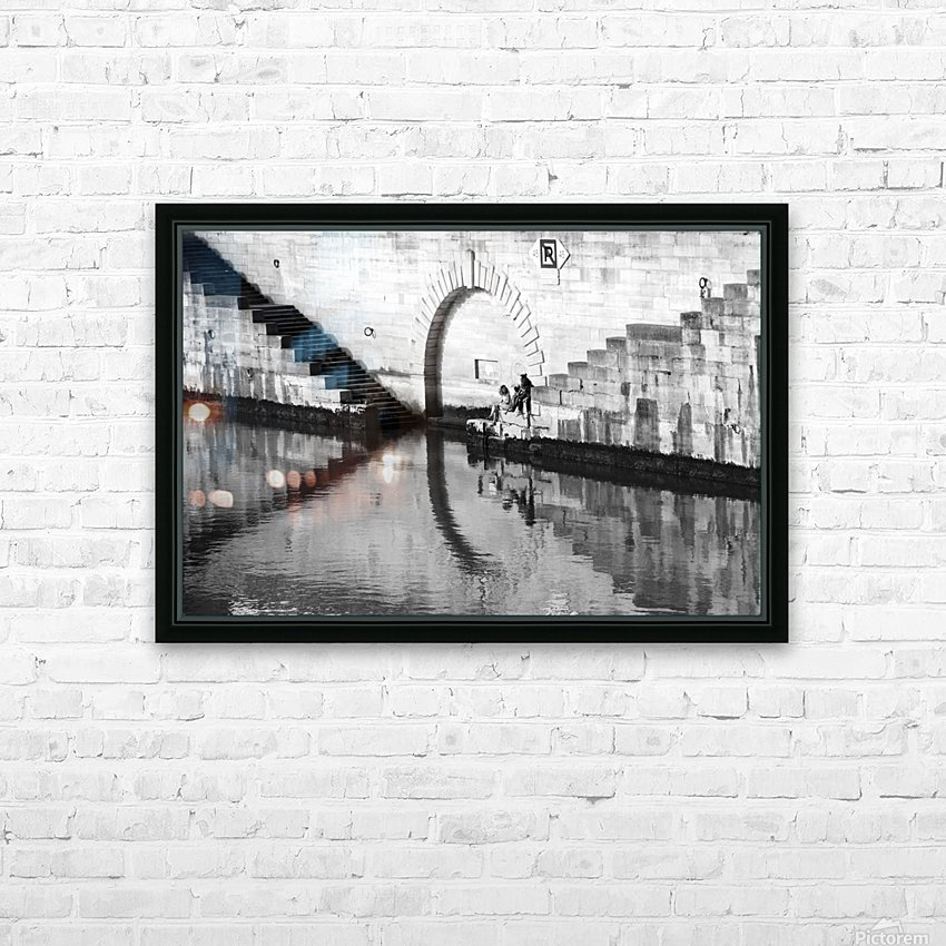 Reflections on the Seine HD Sublimation Metal print with Decorating Float Frame (BOX)