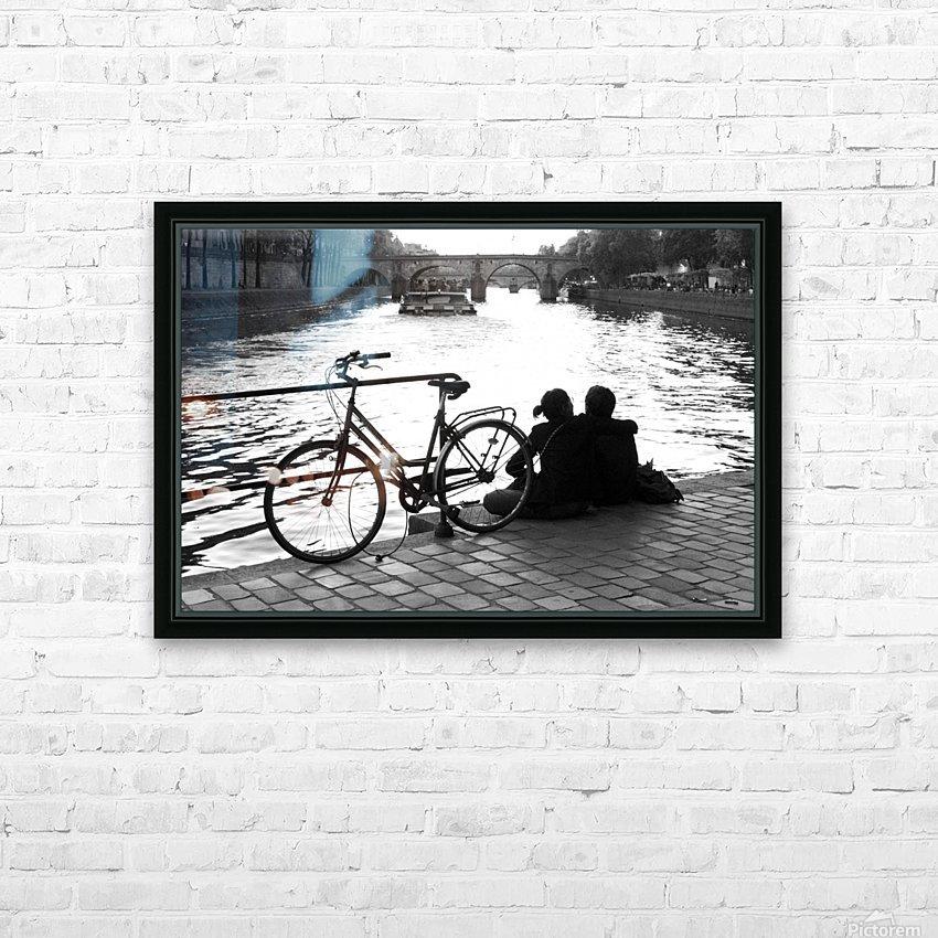 Couche du Soleil - La Seine HD Sublimation Metal print with Decorating Float Frame (BOX)
