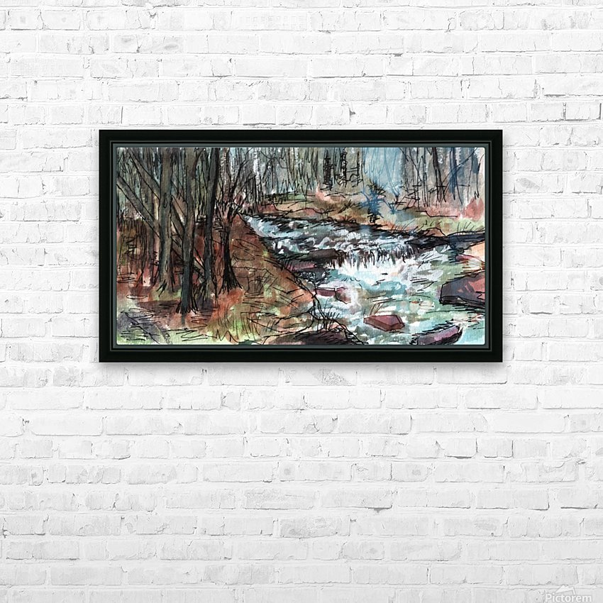 Gatlinburg Creek HD Sublimation Metal print with Decorating Float Frame (BOX)