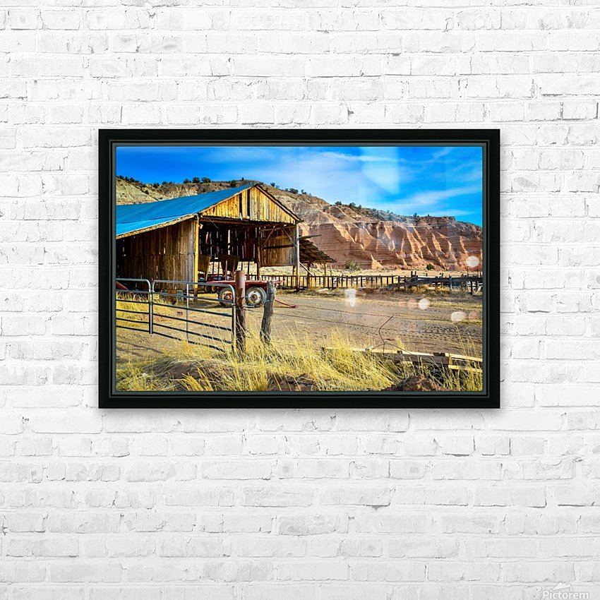 Abandoned farmers hut in the arid desert of Arizona USA HD Sublimation Metal print with Decorating Float Frame (BOX)