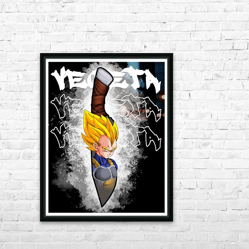 dagger vegeta2 HD Sublimation Metal print with Decorating Float Frame (BOX)
