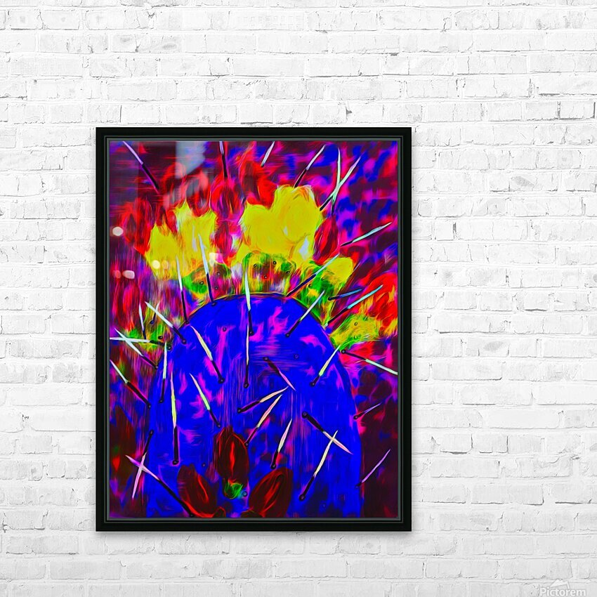 Cactus HD Sublimation Metal print with Decorating Float Frame (BOX)