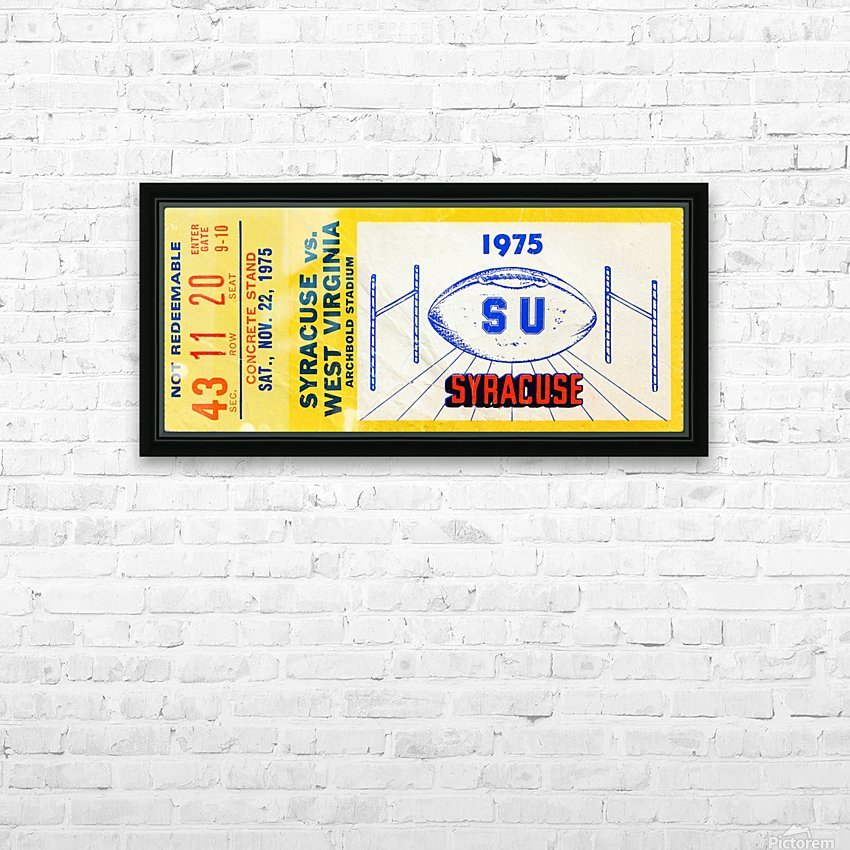 ticket wall art HD Sublimation Metal print with Decorating Float Frame (BOX)