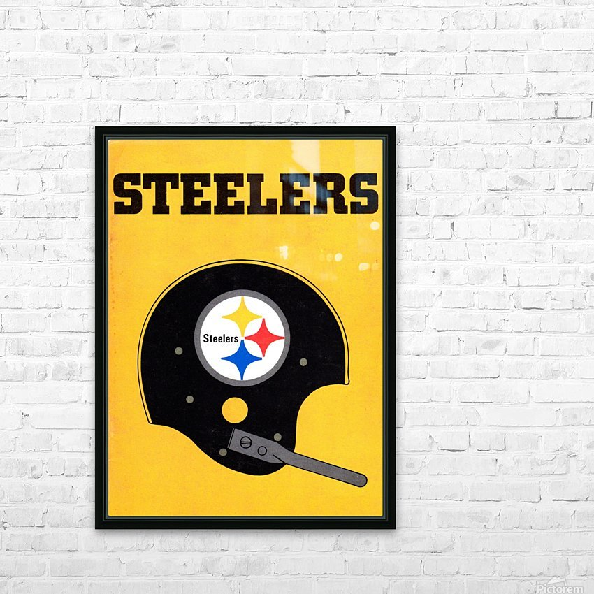 1968 Pittsburgh Steelers Helmet Art HD Sublimation Metal print with Decorating Float Frame (BOX)
