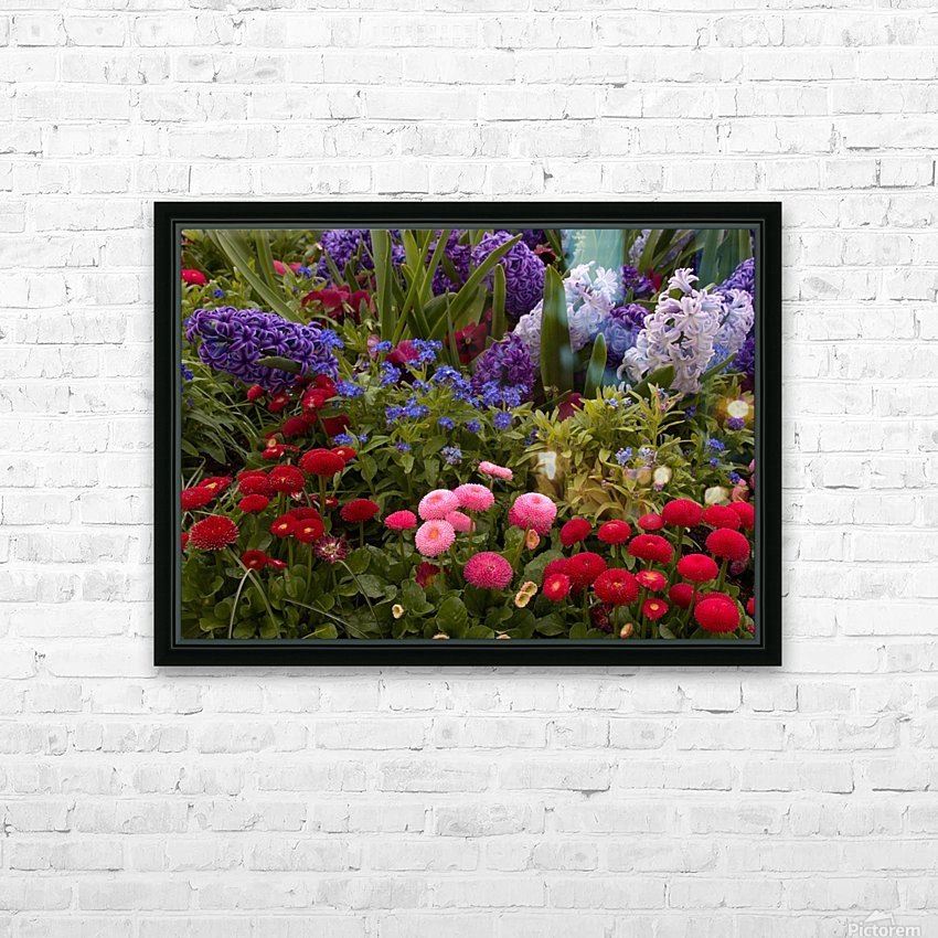 Spring Garden  HD Sublimation Metal print with Decorating Float Frame (BOX)
