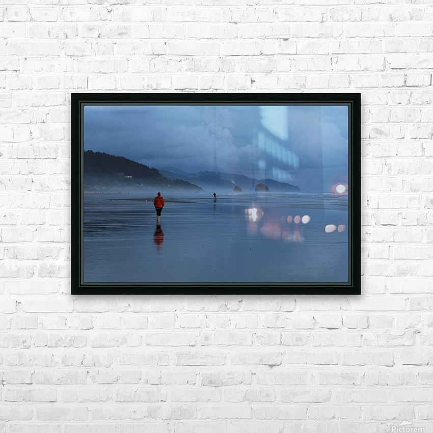 Woman in Red HD Sublimation Metal print with Decorating Float Frame (BOX)