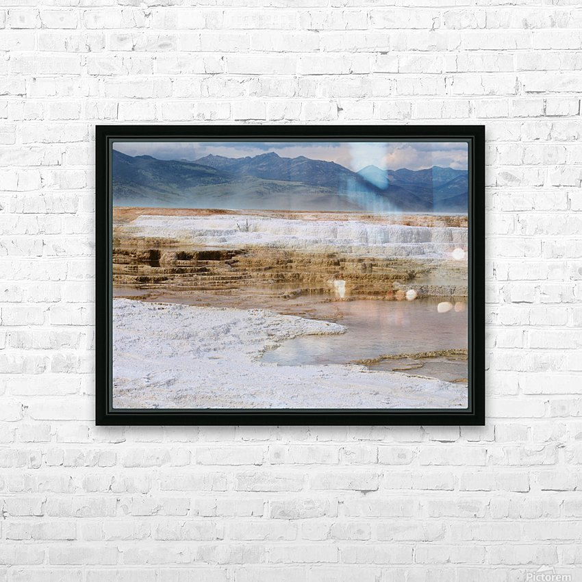 Mammoth Hot Springs part 2 Yellowstone National Park HD Sublimation Metal print with Decorating Float Frame (BOX)
