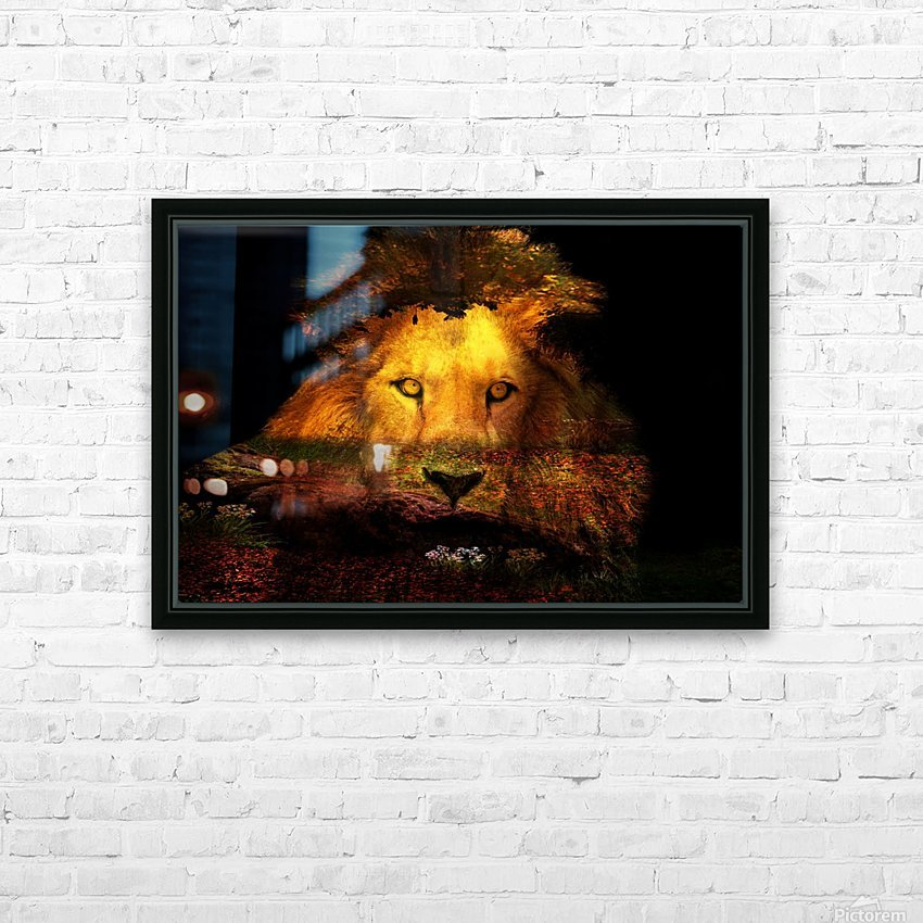 The Lion Watches HD Sublimation Metal print with Decorating Float Frame (BOX)