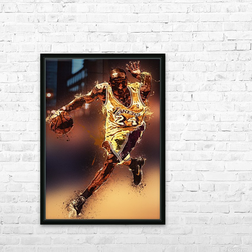 Kobe Bryant Best Moments 8 HD Sublimation Metal print with Decorating Float Frame (BOX)