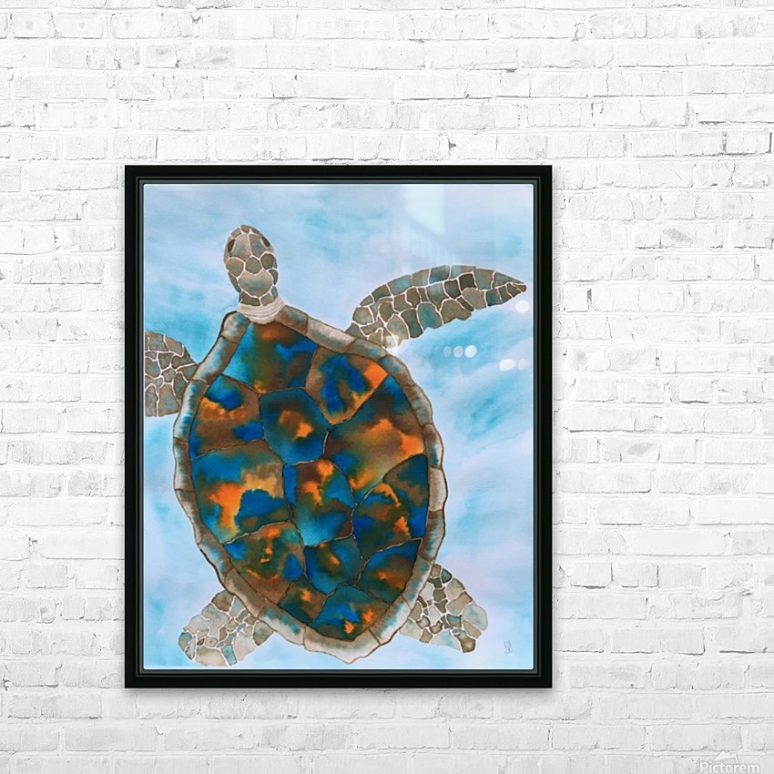 Turtle Island Breaths Again HD Sublimation Metal print with Decorating Float Frame (BOX)