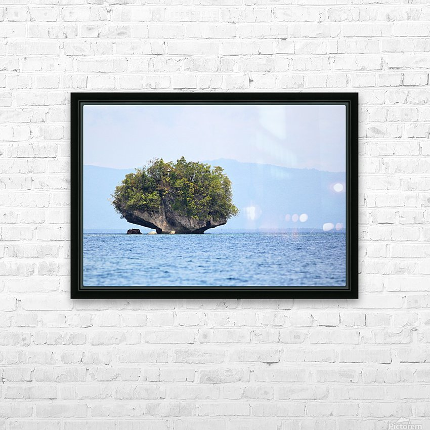 Rock Island HD Sublimation Metal print with Decorating Float Frame (BOX)