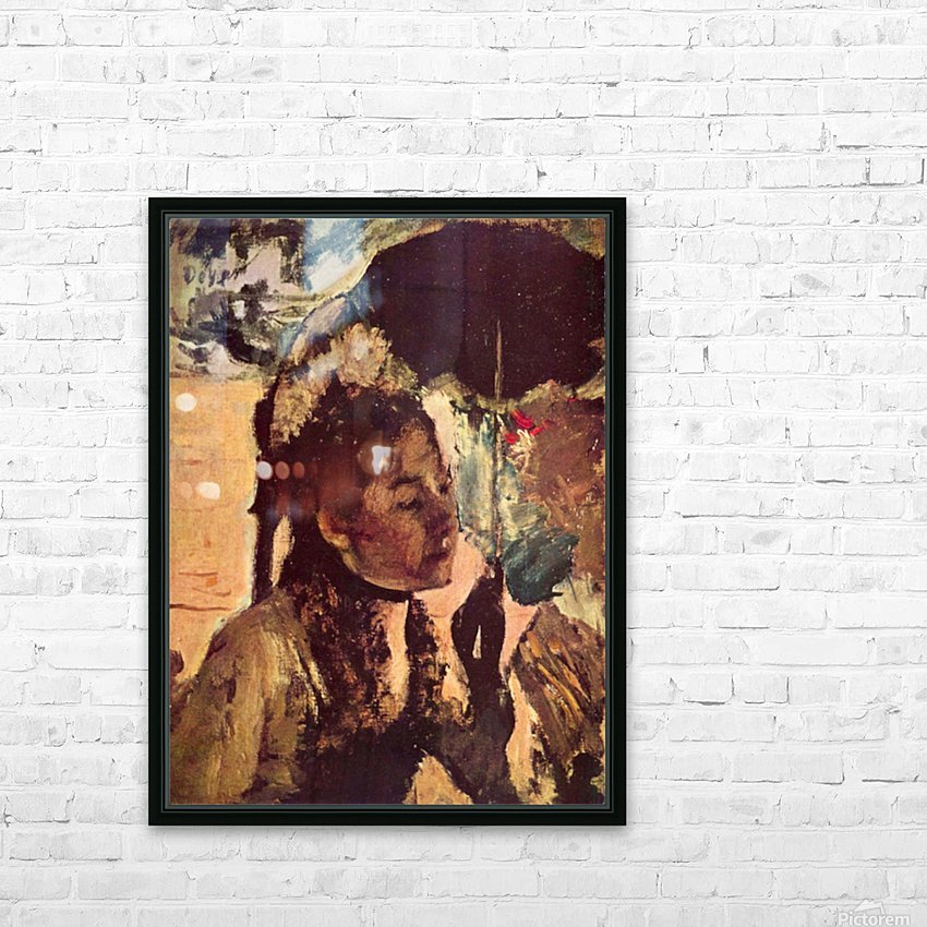 In the Tuileries - Woman with Parasol by Degas HD Sublimation Metal print with Decorating Float Frame (BOX)