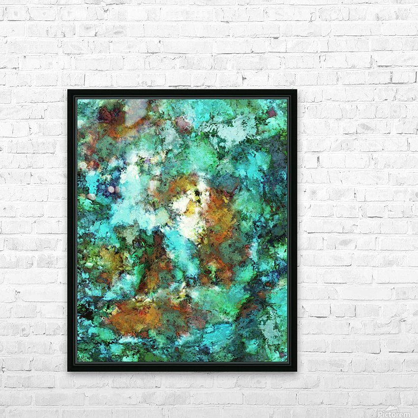 Turquoise terrain HD Sublimation Metal print with Decorating Float Frame (BOX)