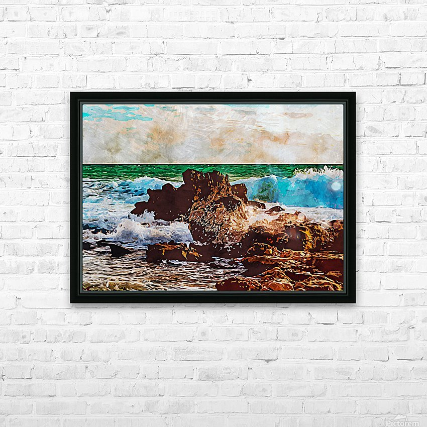 Nature View 13 HD Sublimation Metal print with Decorating Float Frame (BOX)