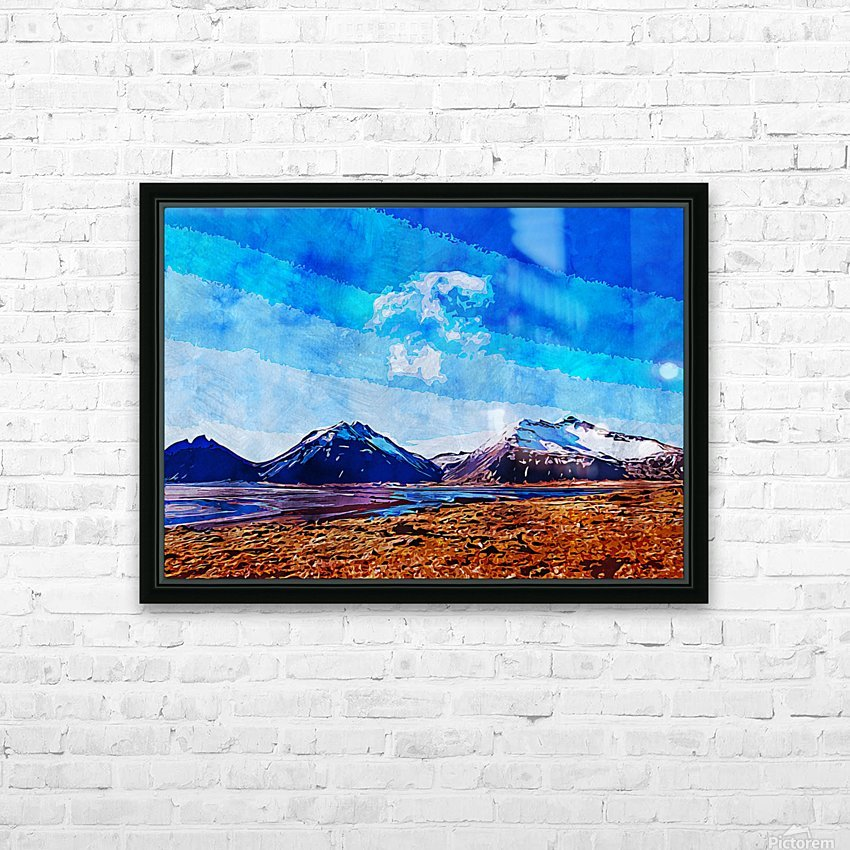 Nature View  HD Sublimation Metal print with Decorating Float Frame (BOX)