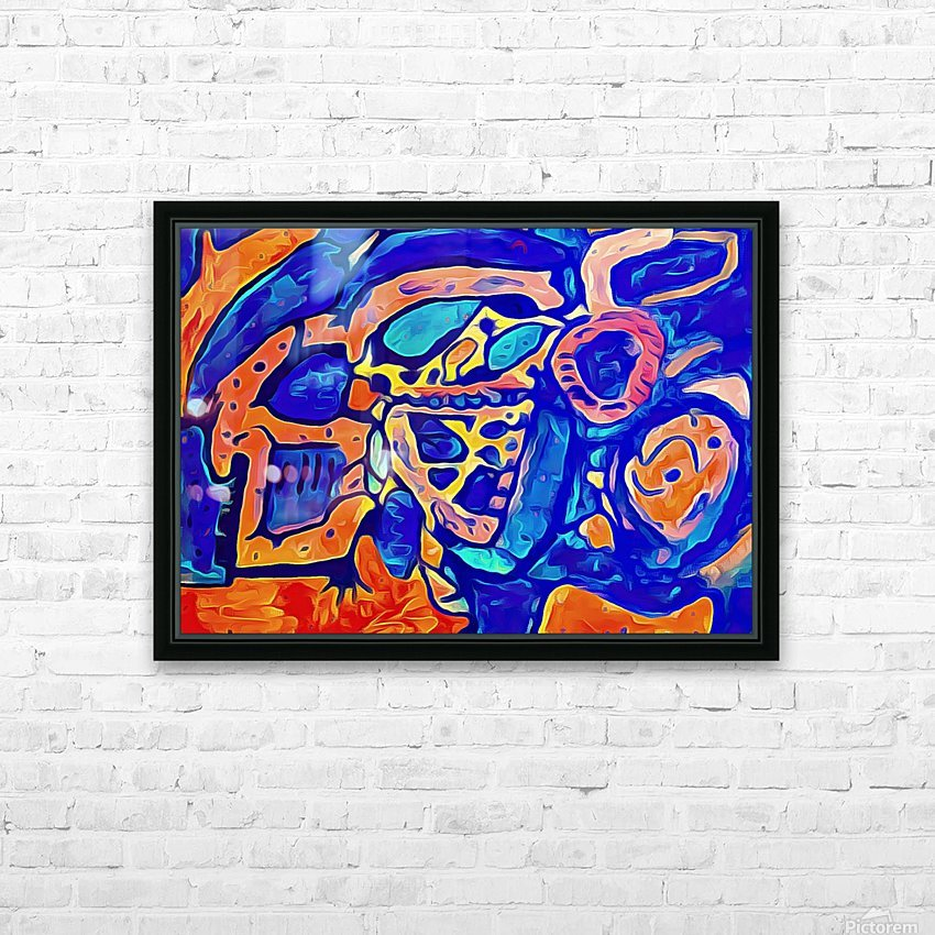 Blue Orange Clash HD Sublimation Metal print with Decorating Float Frame (BOX)