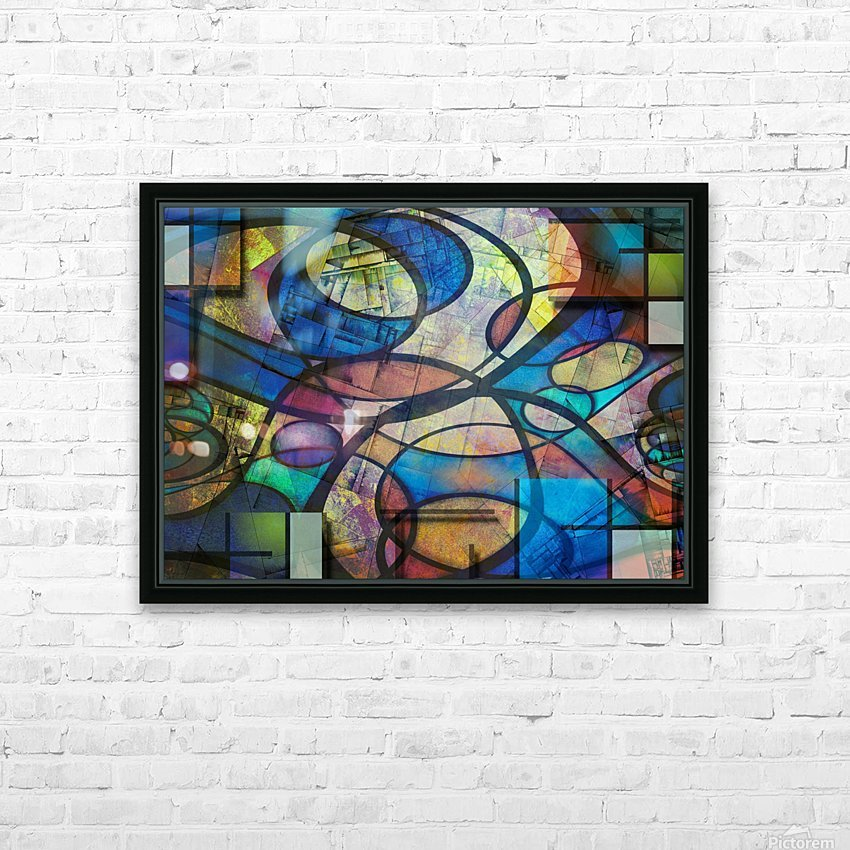 Trendy Abstract Art HD Sublimation Metal print with Decorating Float Frame (BOX)