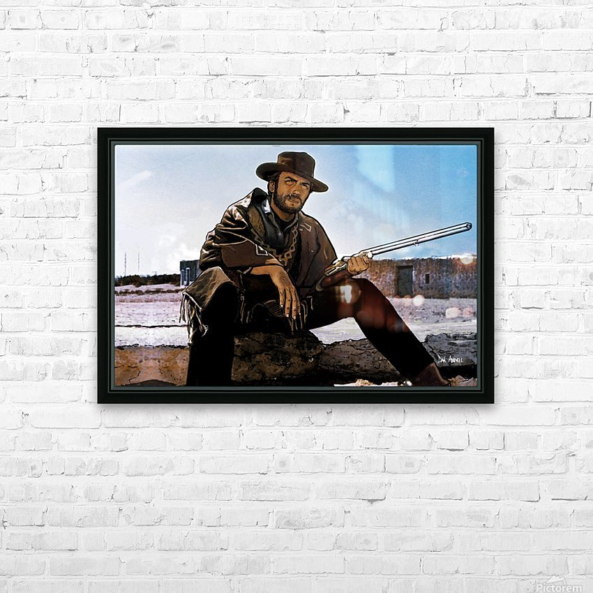 Clint Eastwood as The Man With No Name HD Sublimation Metal print with Decorating Float Frame (BOX)