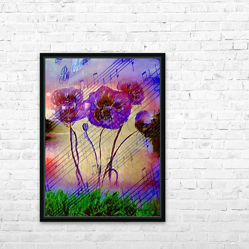 Dancing Flowers HD Sublimation Metal print with Decorating Float Frame (BOX)