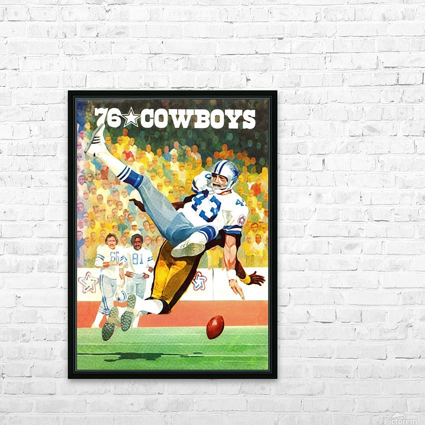 1976 Dallas Cowboys Art HD Sublimation Metal print with Decorating Float Frame (BOX)