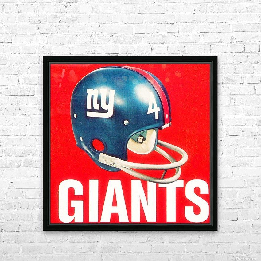 Vintage New York Giants Football Helmet Art HD Sublimation Metal print with Decorating Float Frame (BOX)