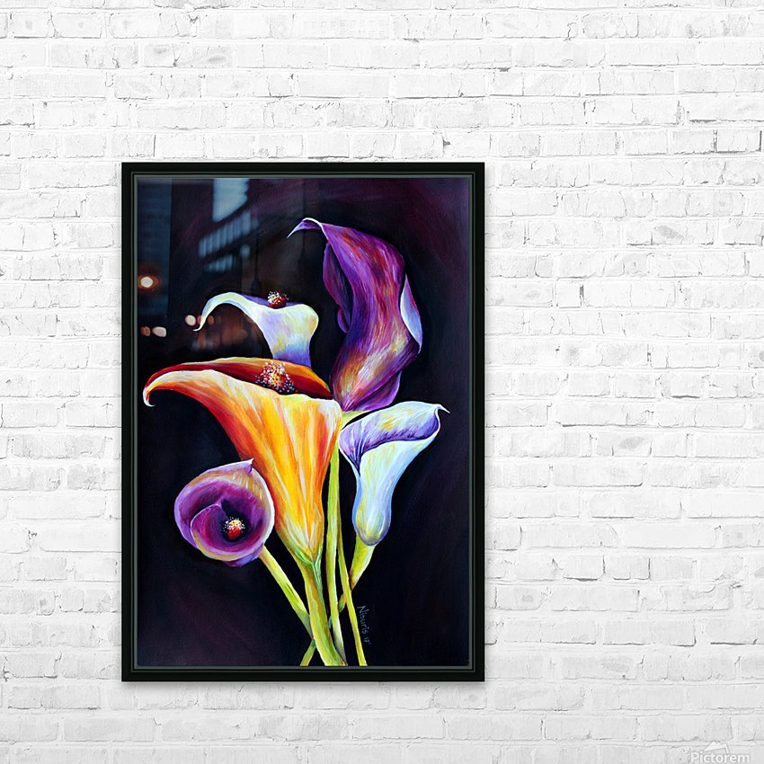 Calla Lilies in Blooming Bouquet HD Sublimation Metal print with Decorating Float Frame (BOX)