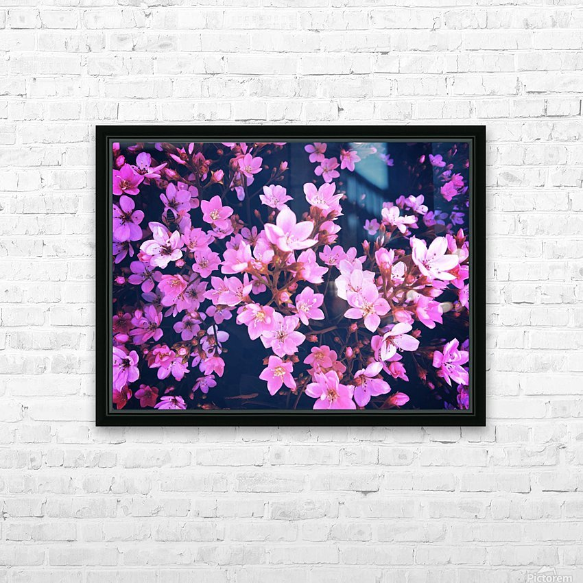 blooming pink flowers garden texture background HD Sublimation Metal print with Decorating Float Frame (BOX)