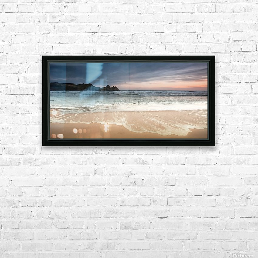 Three Cliffs Bay Swansea HD Sublimation Metal print with Decorating Float Frame (BOX)