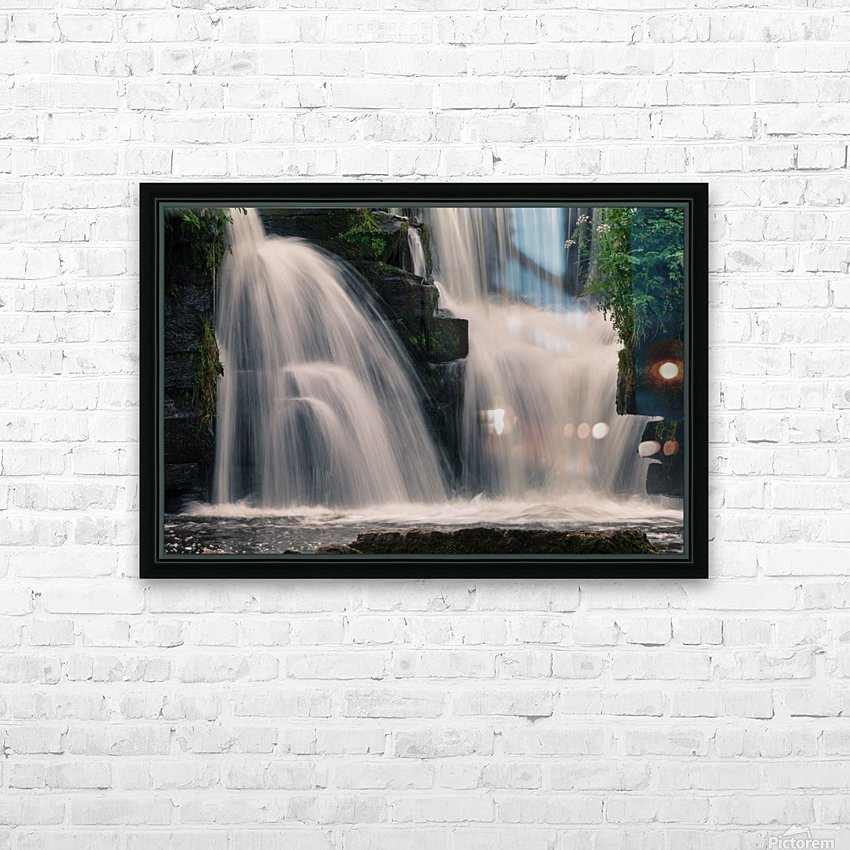 Waterfalls in Penllergare woods HD Sublimation Metal print with Decorating Float Frame (BOX)