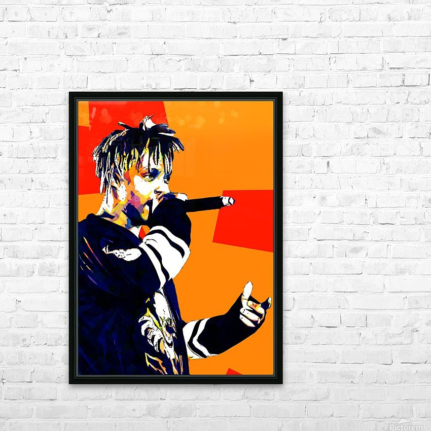 Juice Wrld Best American Rapper Art Style 15 HD Sublimation Metal print with Decorating Float Frame (BOX)