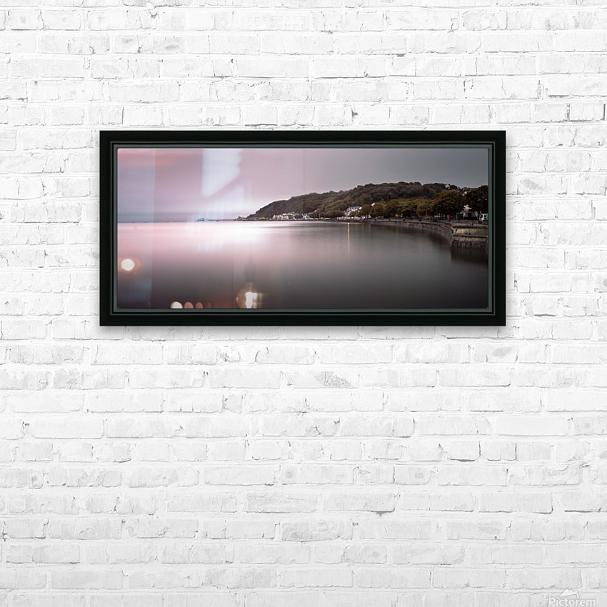 Mumbles coastline Swansea HD Sublimation Metal print with Decorating Float Frame (BOX)